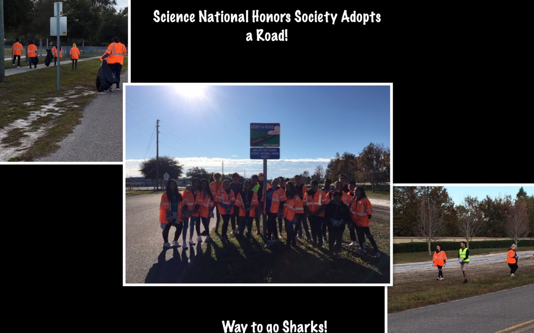 SNHS Adopts a road clean up!