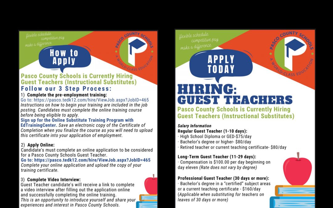 Guest Teachers Wanted!