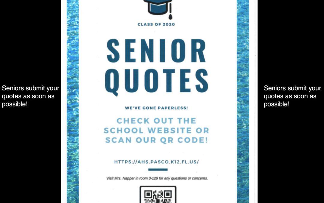 Senior Quotes!