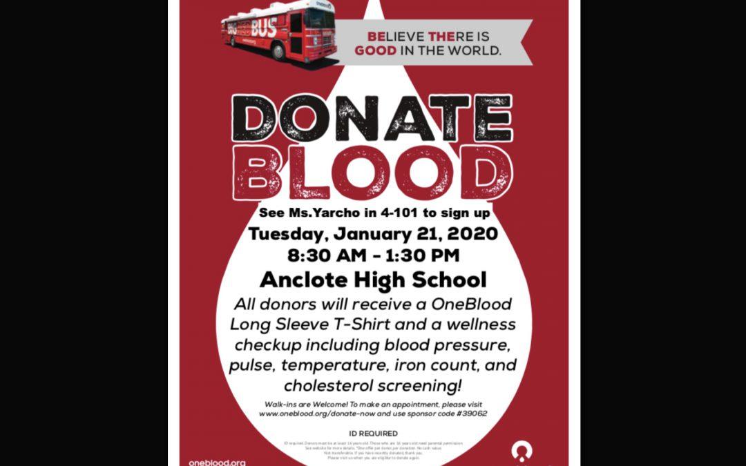 AHS Blood Drive!
