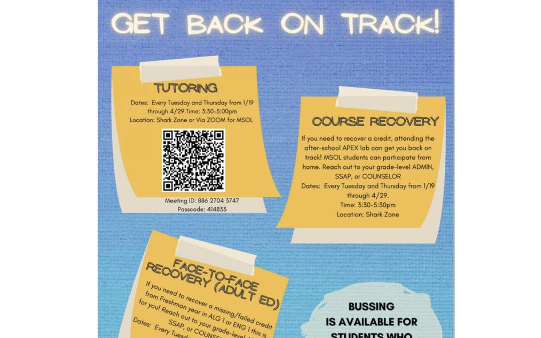 Tutoring/Recovery